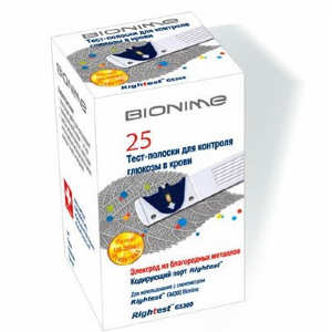 Тест-полоски Bionime Rightest GS300 №25